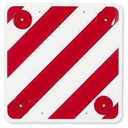 Panneau de signalisation avec catadioptres