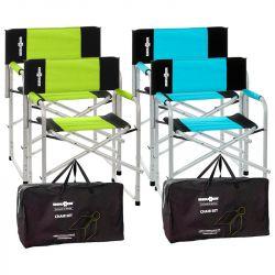 Set de 2 fauteuils directeur BRAVURA avec housse offerte